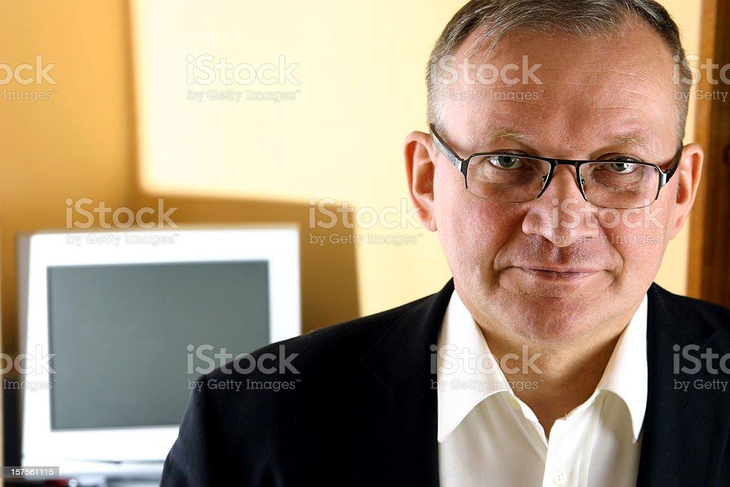 Confident businessman stock photo