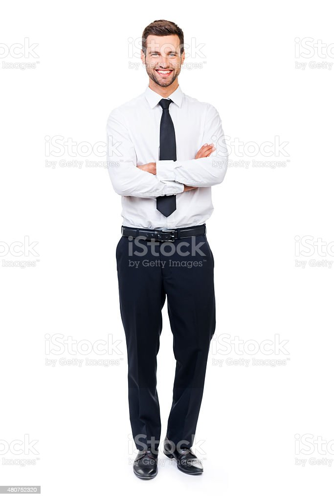 Confident businessman. stock photo