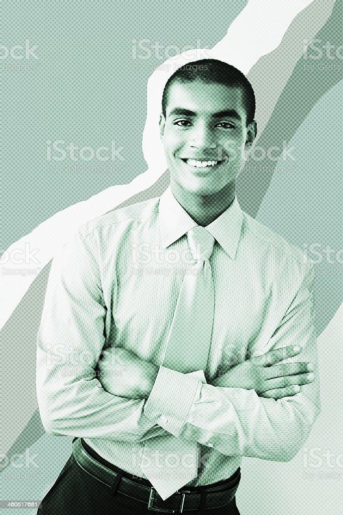 Confident Businessman Smiling royalty-free stock photo