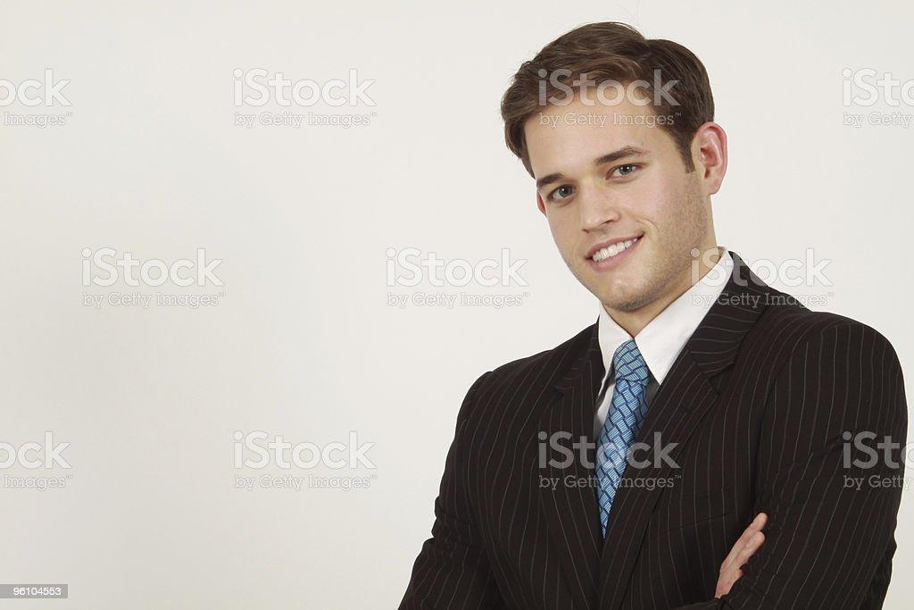 Confiant Homme d'affaires souriant photo libre de droits