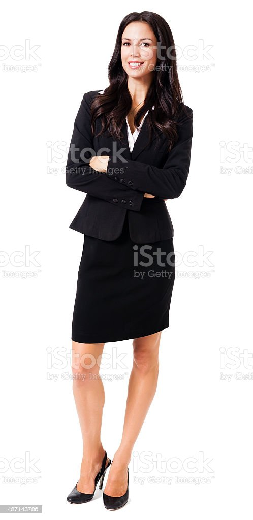 Confident Businesswoman on White stock photo