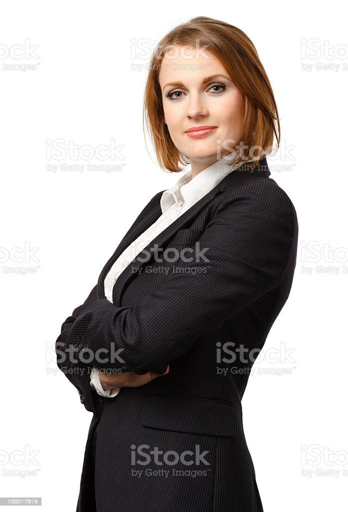 Confident Businesswoman Portrait - Isolated royalty-free stock photo