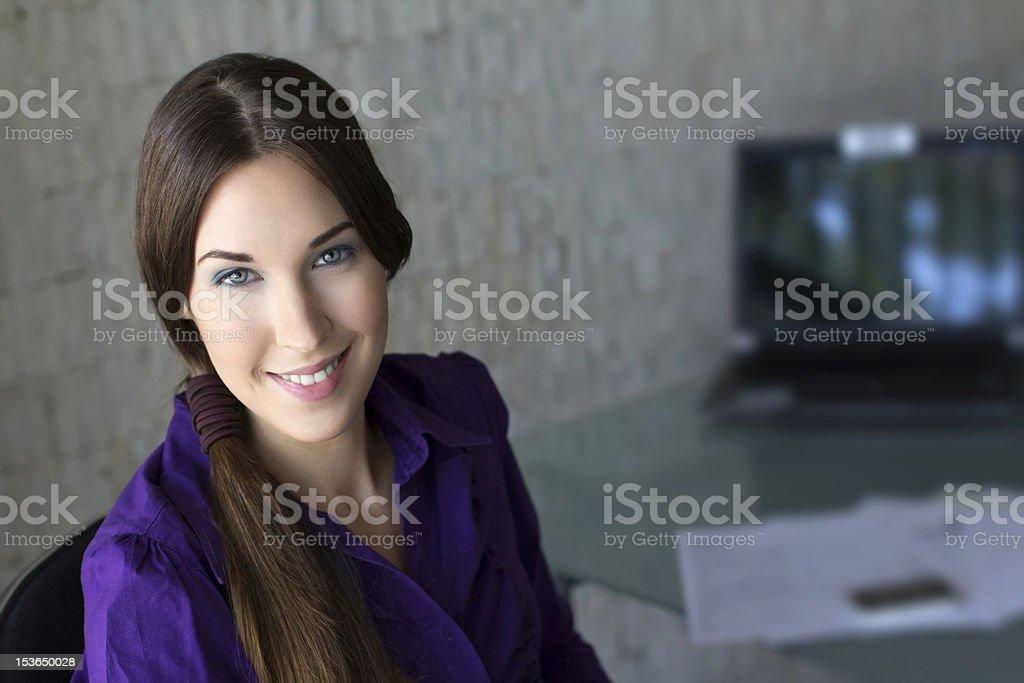 Confident businesswoman smiling royalty-free stock photo