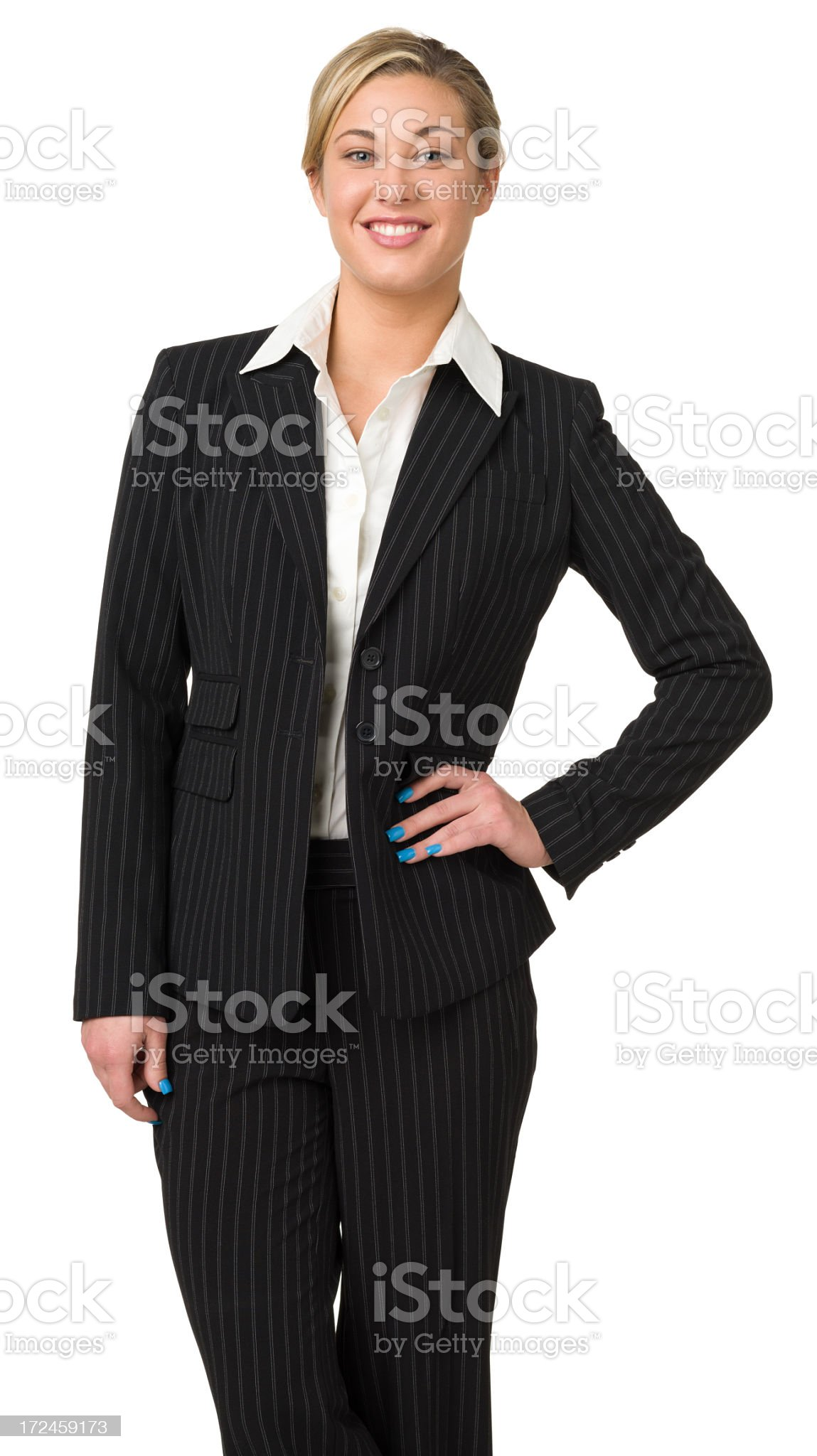 Confident Businesswoman Three Quarter Portrait royalty-free stock photo