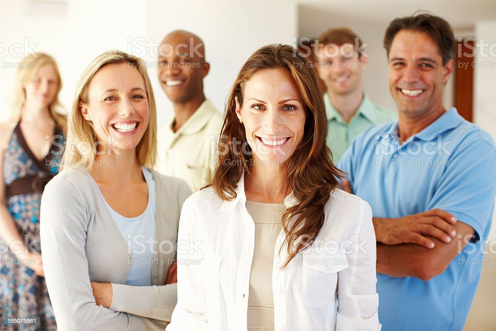 Confident casual business team royalty-free stock photo