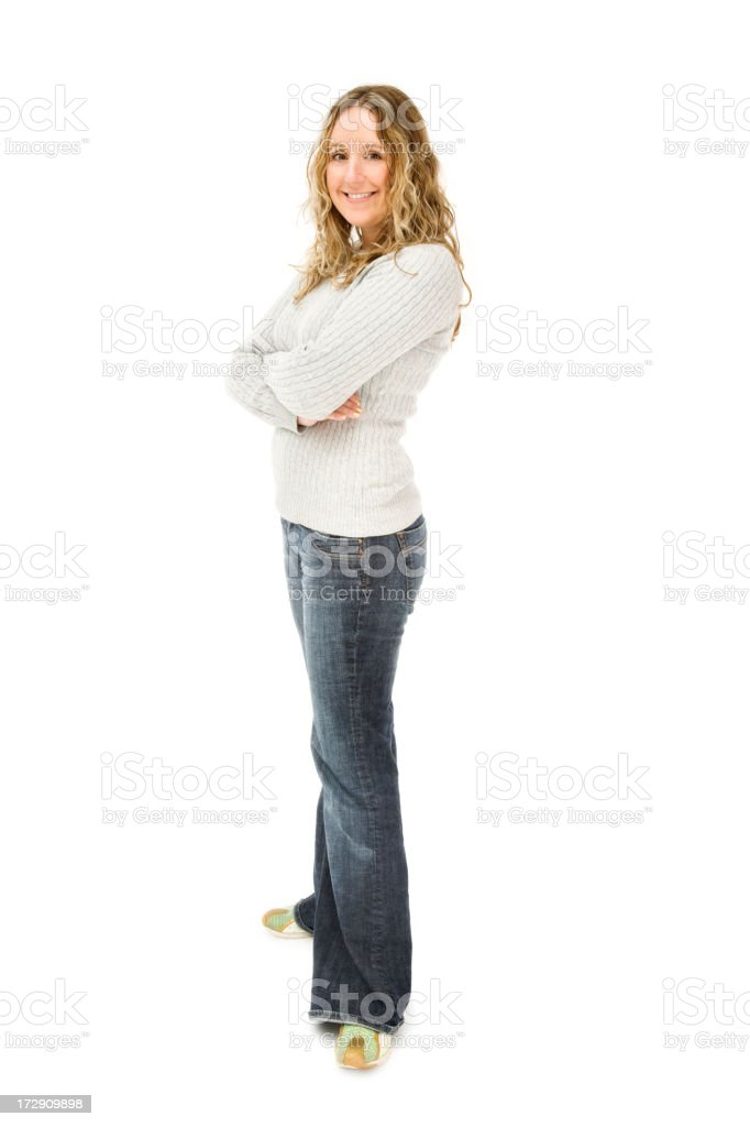Confident Casual Woman royalty-free stock photo