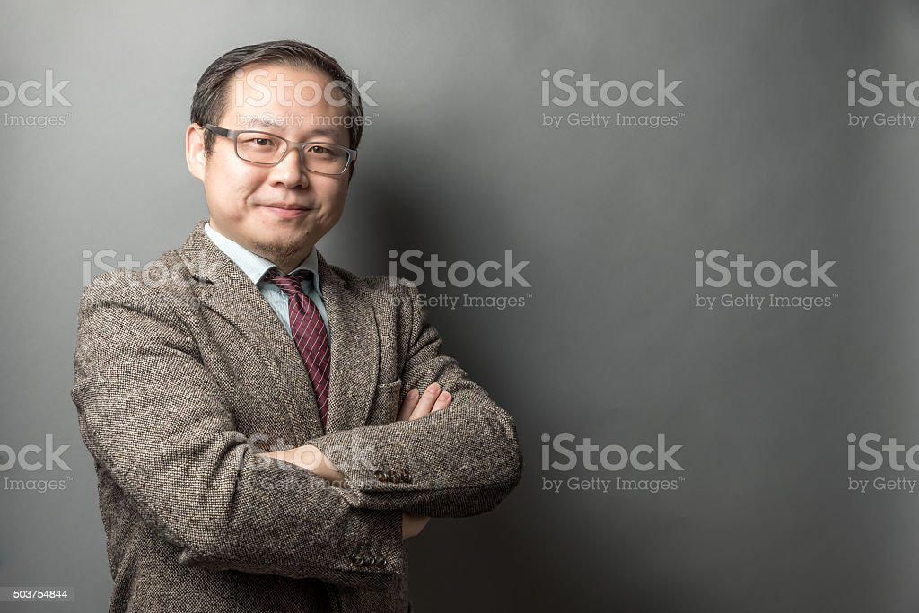 Confident Chinese Businessman stock photo