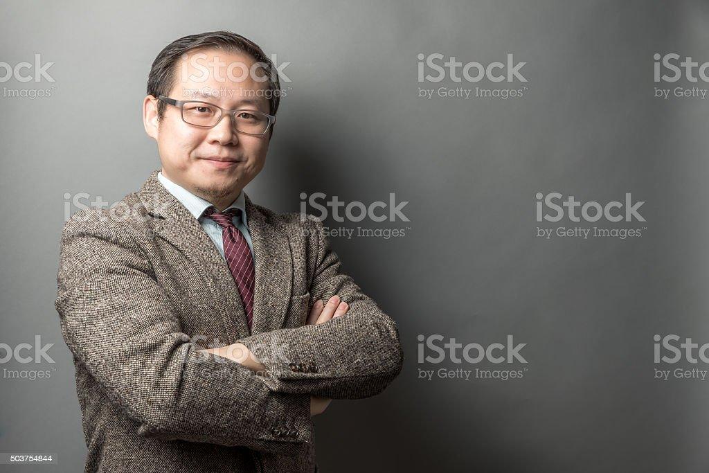 Confident Chinese Businessman stock photo