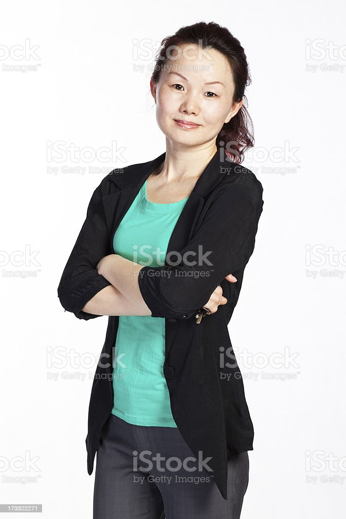 Confident Chinese Lady royalty-free stock photo