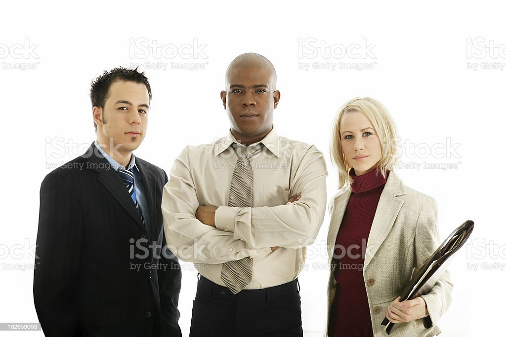 Confident co-workers royalty-free stock photo