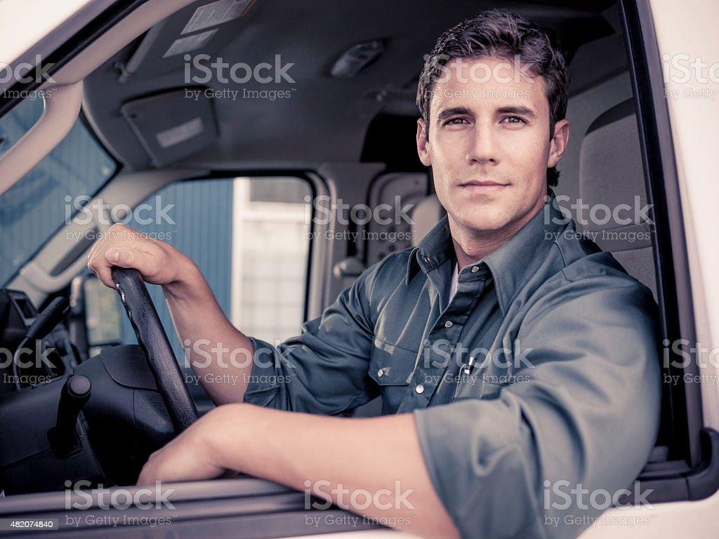 Confident Delivery Driver stock photo