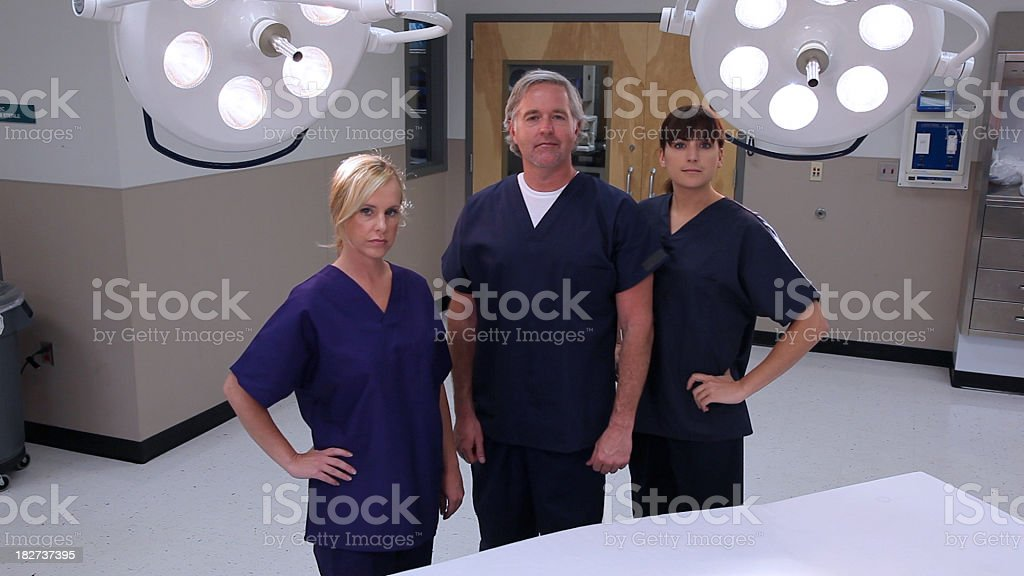 confident doctor nurse hospital team stock photo