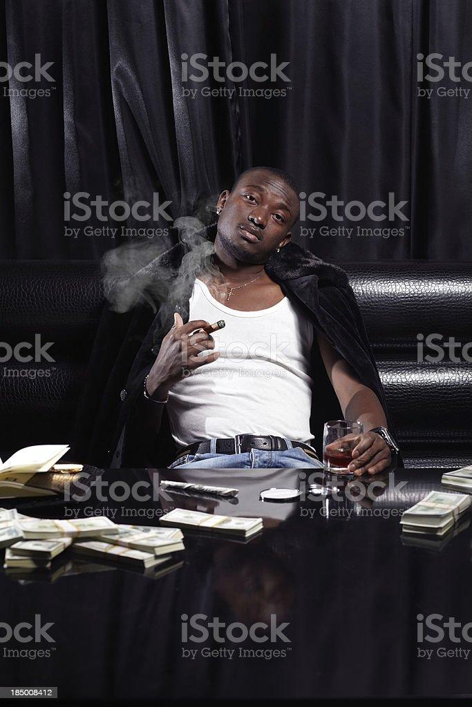 Confident drug dealer royalty-free stock photo