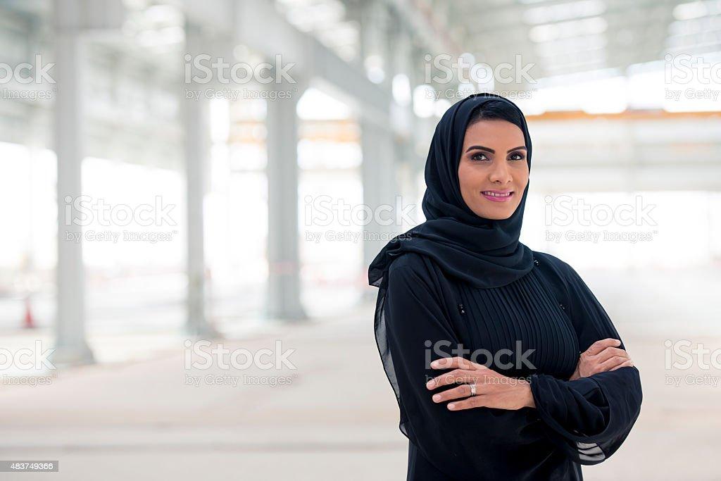 Confident Emirati Businesswoman stock photo