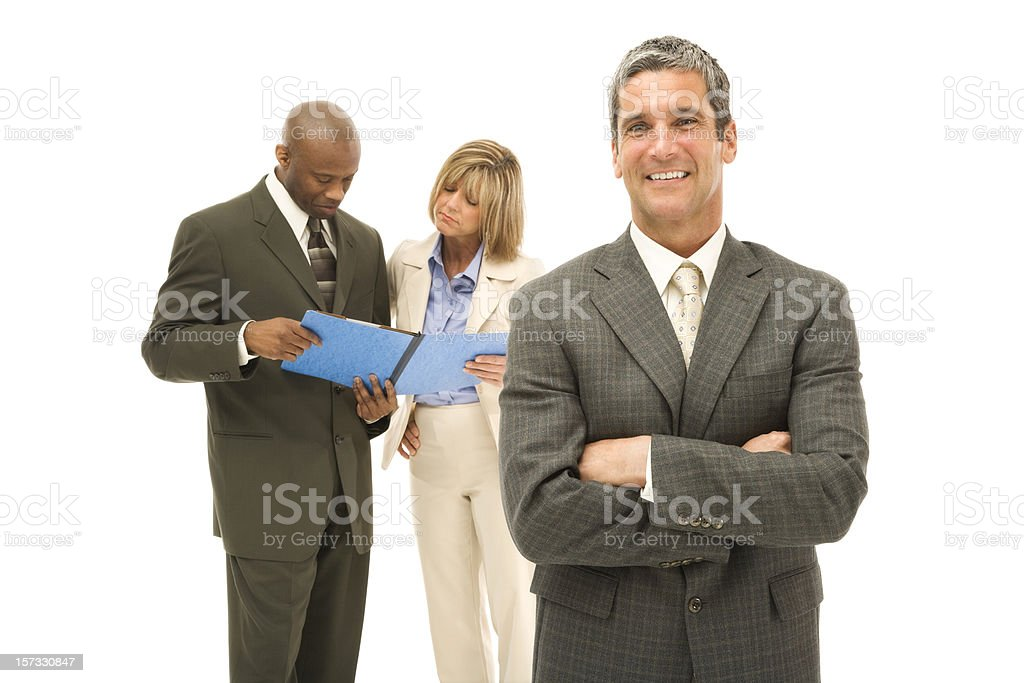 Confident Executive and His Team stock photo