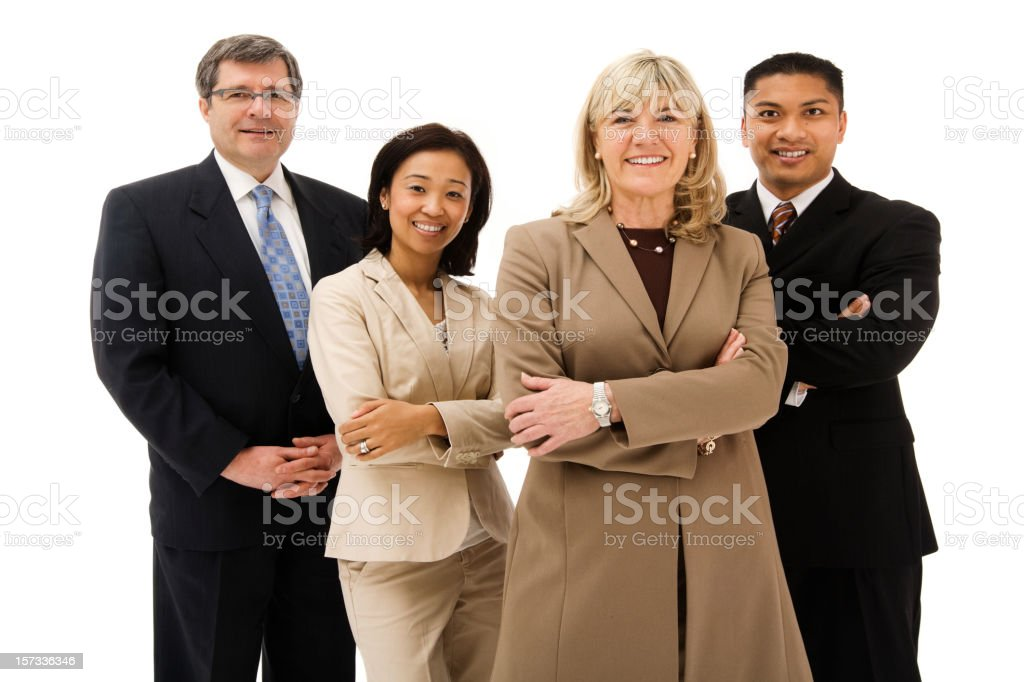 Confident experienced Business Team royalty-free stock photo