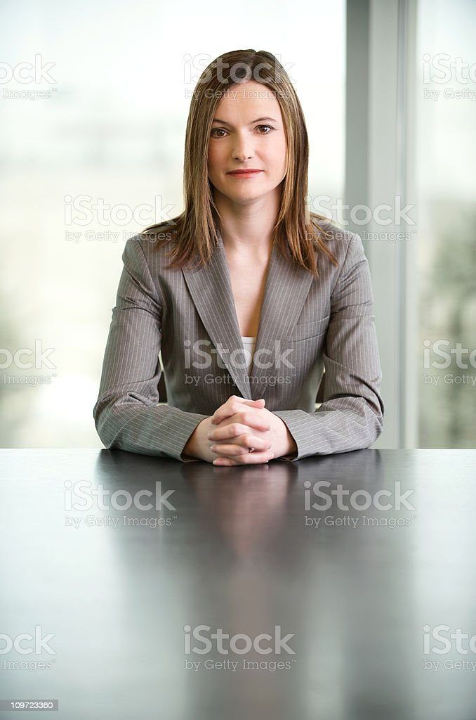 Confident female CEO stock photo