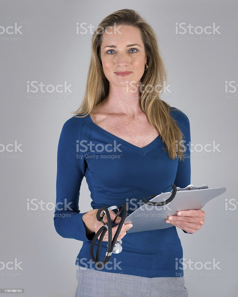 Confident Female Doctor Looking at the Viewer stock photo