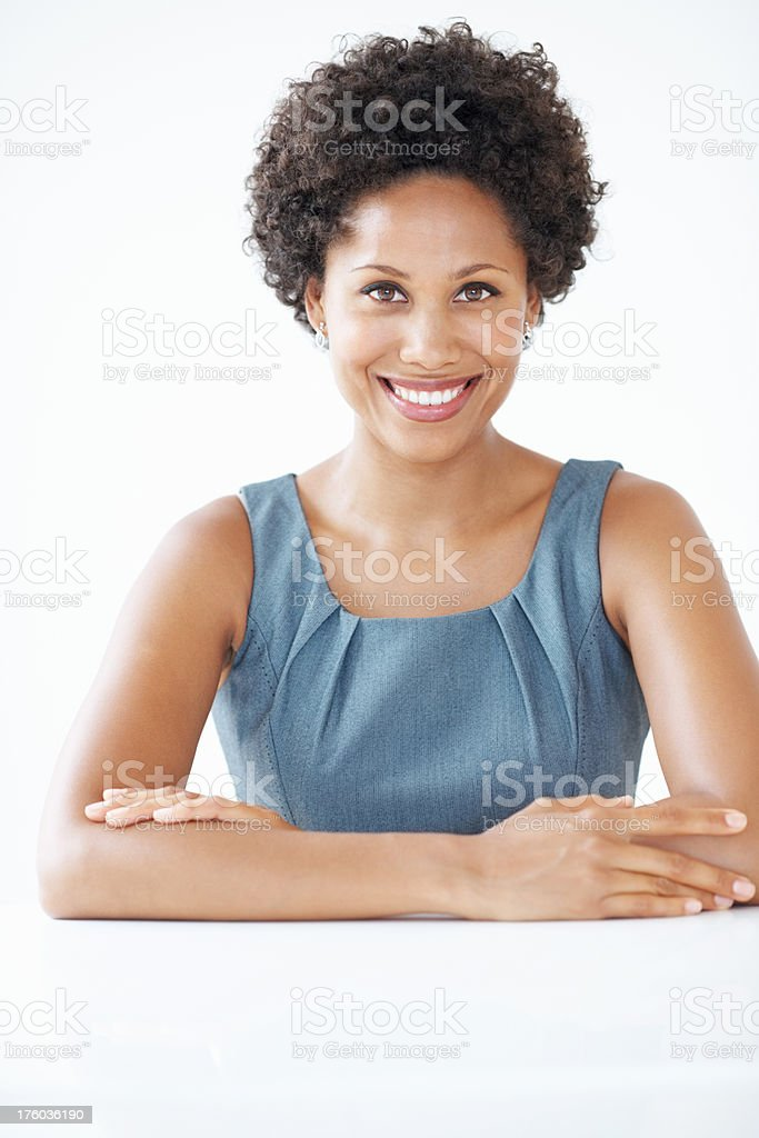 Confident female executive stock photo