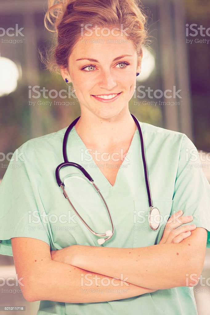 Confident Female Medical Doctor stock photo