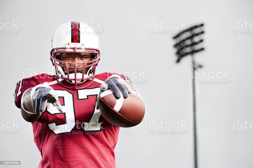 Confident Football Player royalty-free stock photo