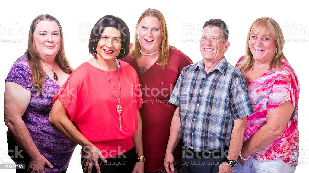 Confident Group of Transgender People stock photo