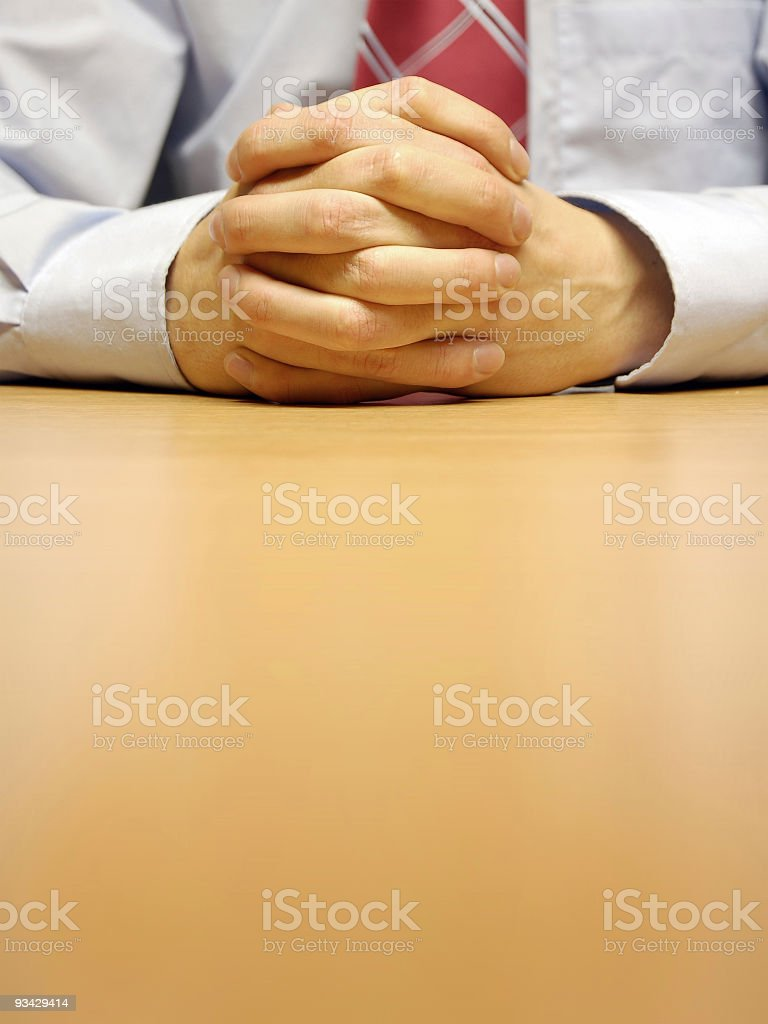 Confident Hands royalty-free stock photo