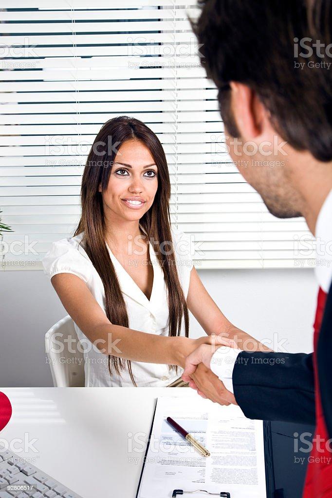 Confident Handshake royalty-free stock photo