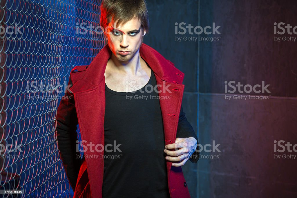 Confident handsome man in urban background royalty-free stock photo