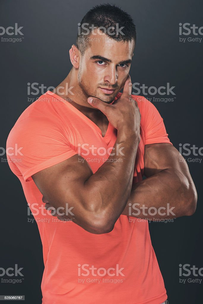 confident handsome man stock photo
