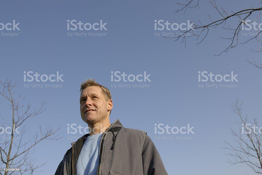 Confident Handyman stock photo