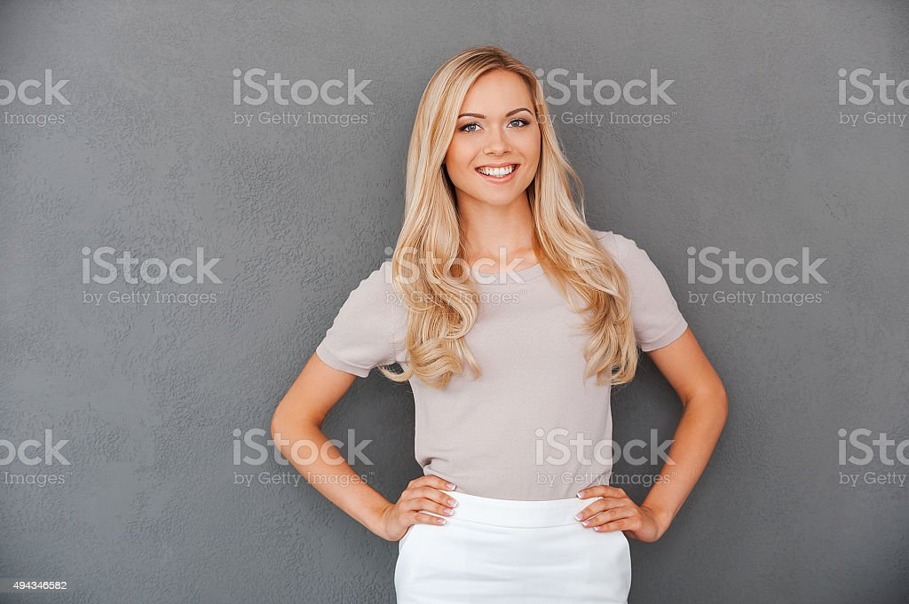 Confident in her abilities. stock photo