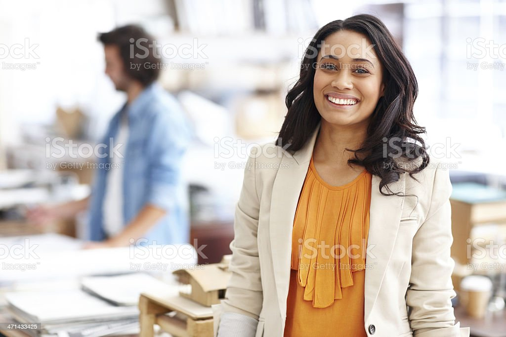 Confident in her architectual abilities royalty-free stock photo