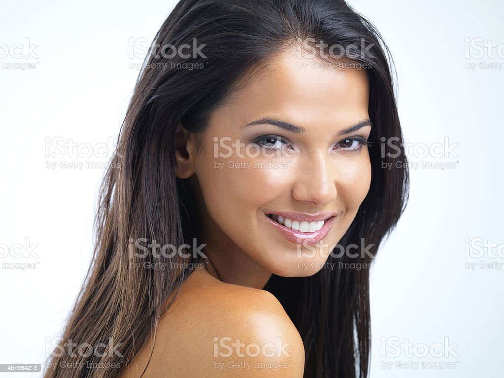 Confident in her beauty stock photo