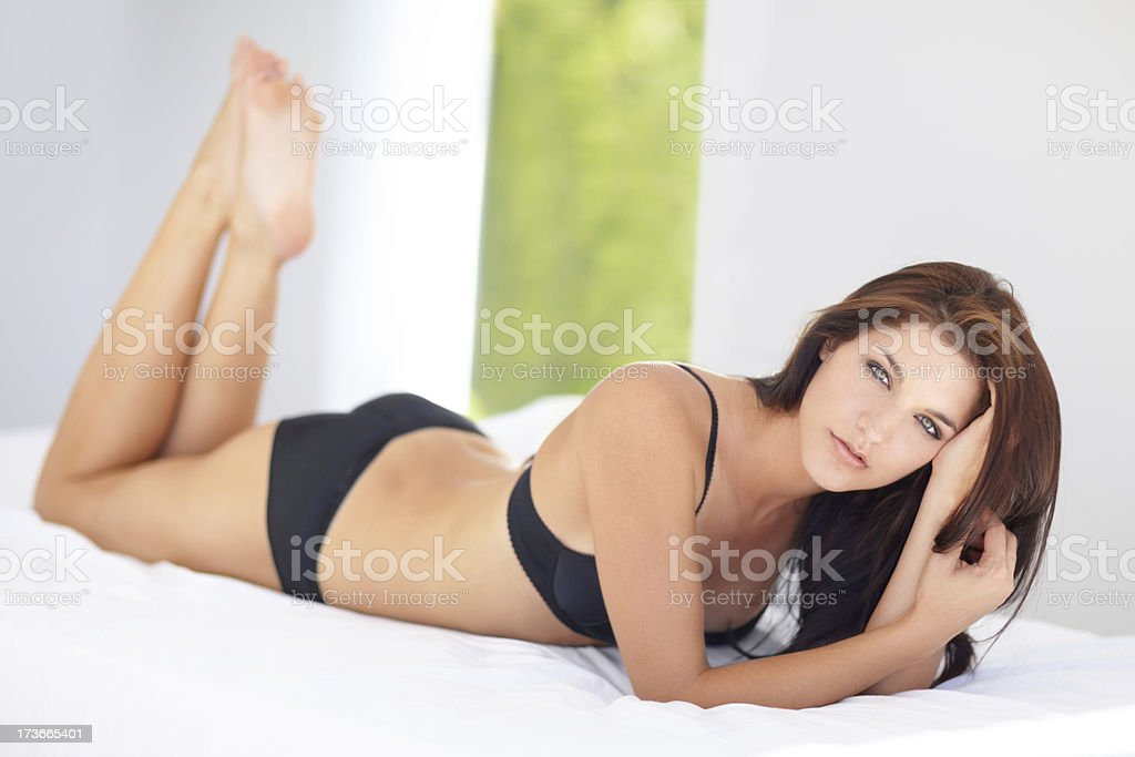 Confident in her curvaceous curves royalty-free stock photo