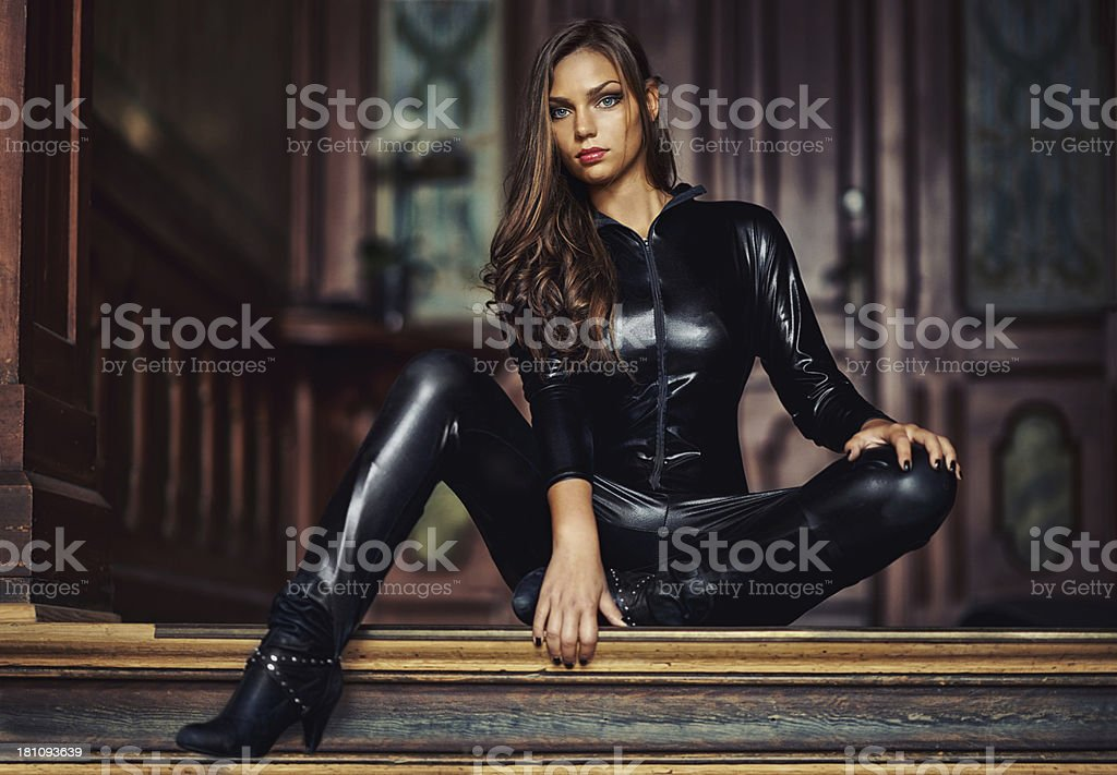 Confident in her sensuality and power stock photo