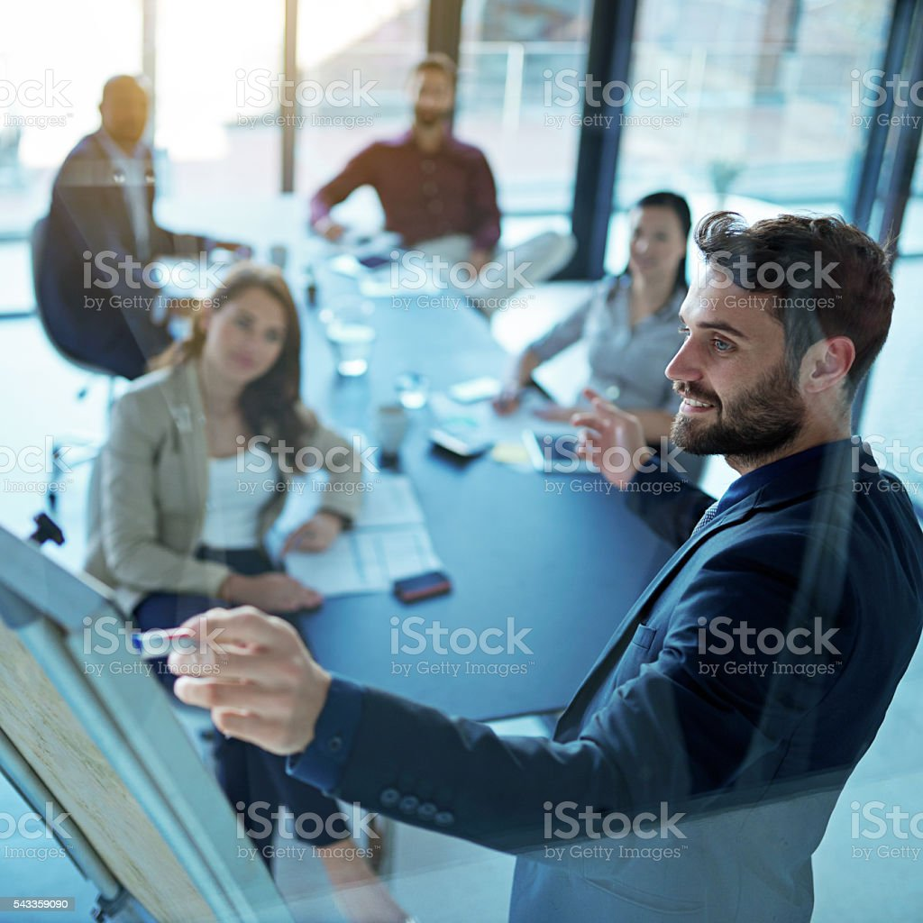Confident in his business abilities stock photo