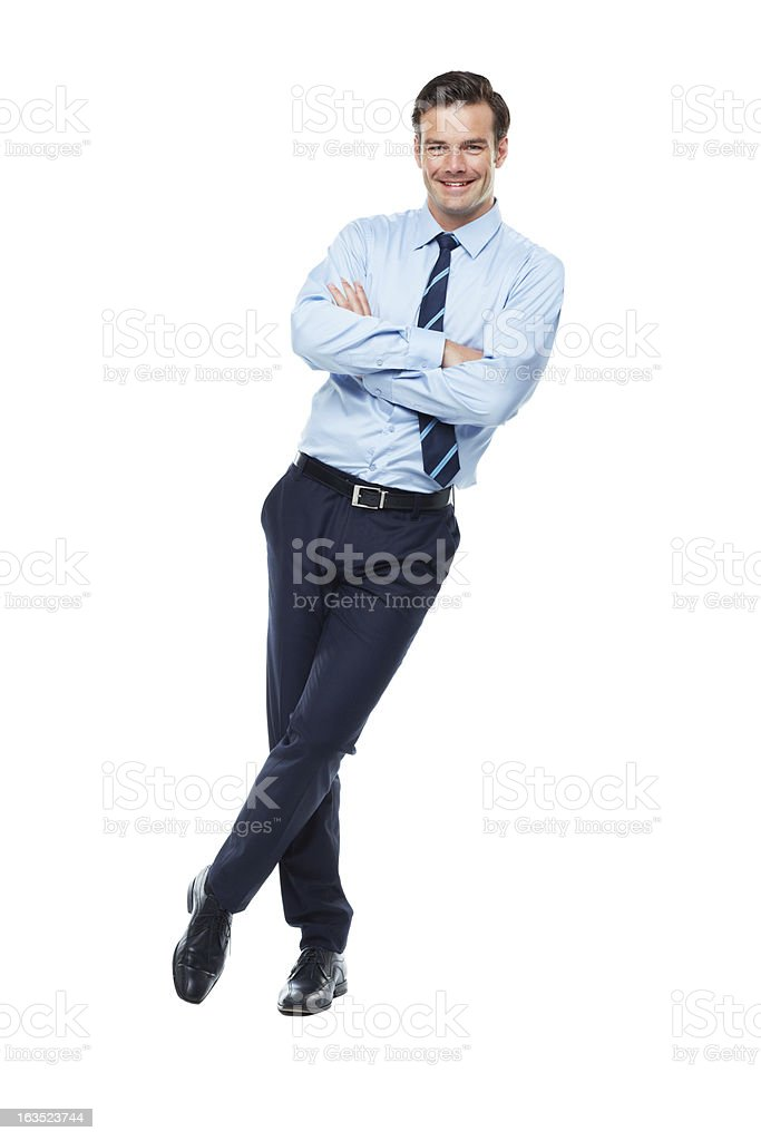 Confident in his business prowess stock photo