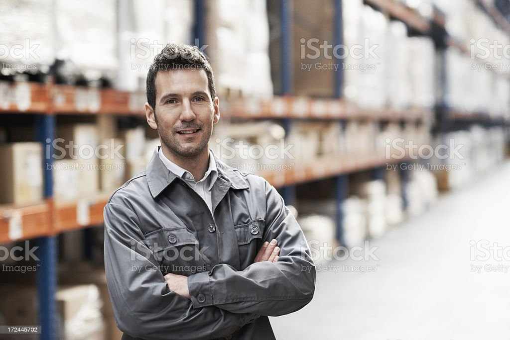 Confident in his stock management abilities royalty-free stock photo