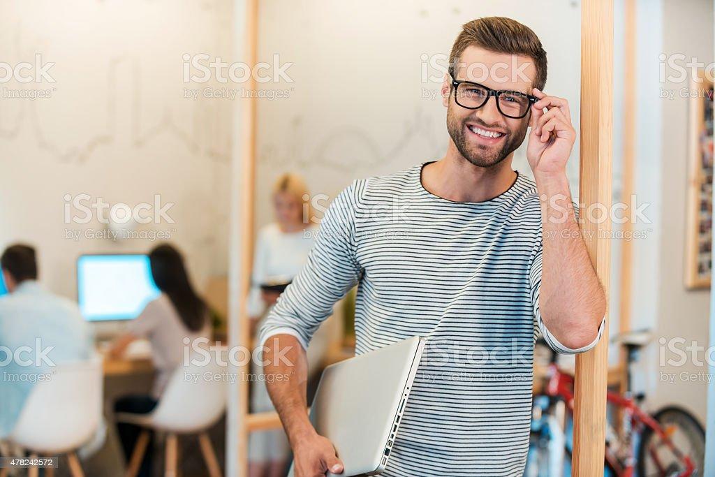 Confident IT professional. stock photo