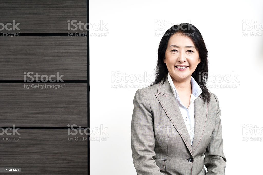 Confident Japanese woman stock photo