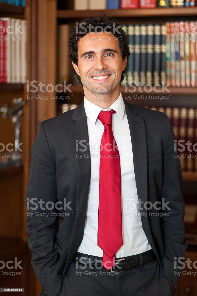 Confident lawyer portrait stock photo