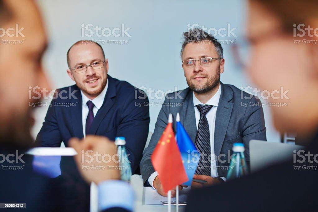 Confident leaders stock photo