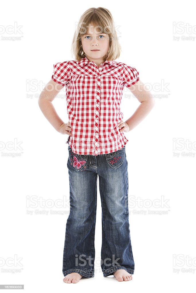 Confident Little Girl royalty-free stock photo