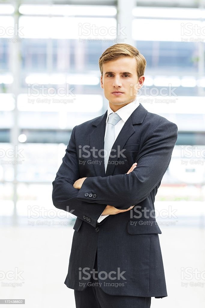 Confident Male Business Manager royalty-free stock photo