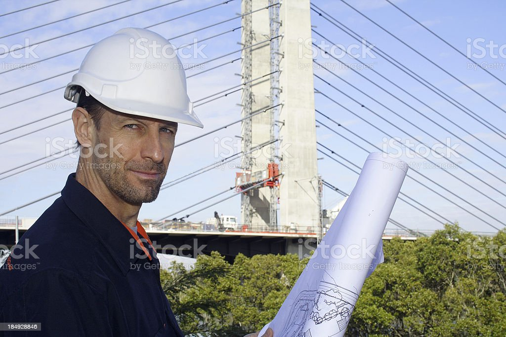 confident male engineer royalty-free stock photo
