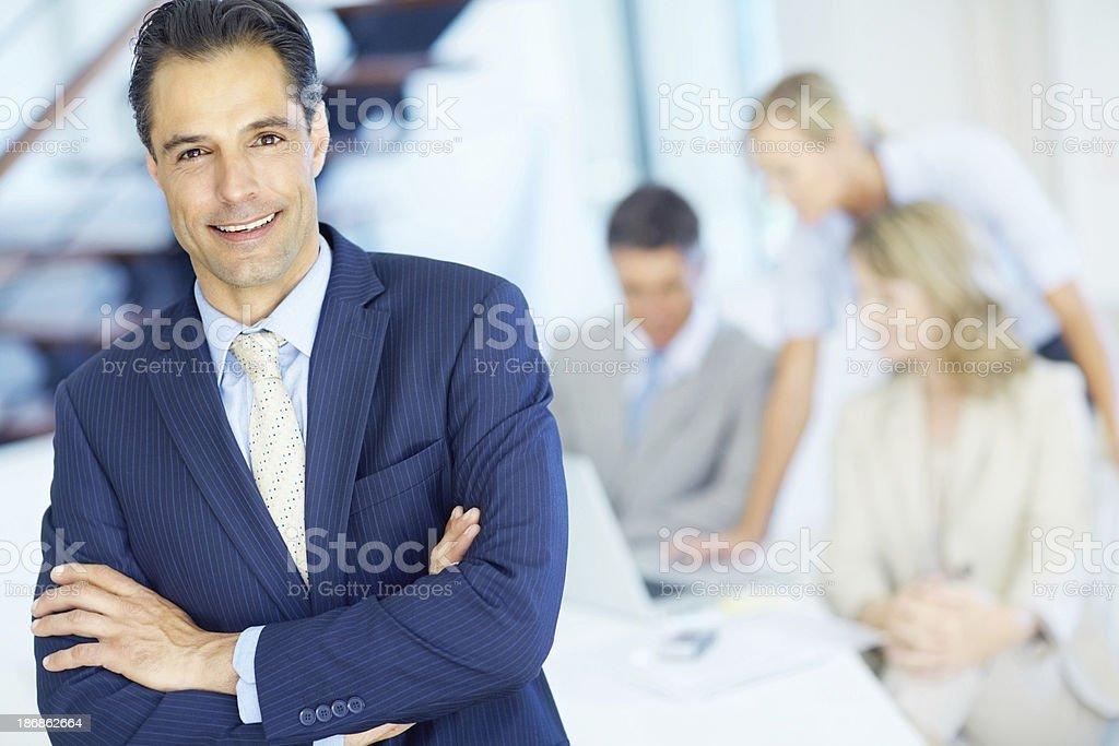 Confident male entrepreneur royalty-free stock photo