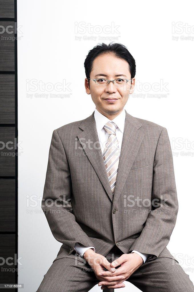 Confident Male Japanese businessman stock photo