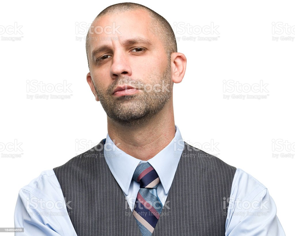 Confident Man in Shirt and Vest royalty-free stock photo