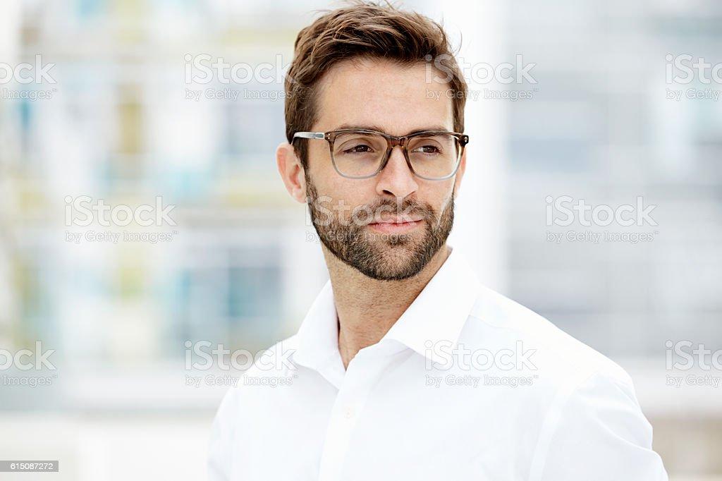 Confident man stock photo
